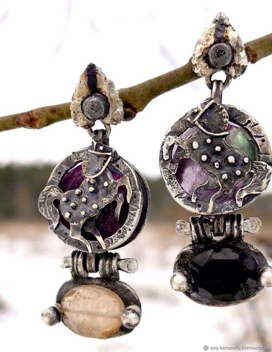 Horses earrings - BENANDLU Art - Evgenia Alexeeva