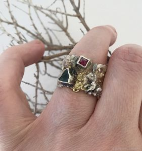 Mouse and Bunny  wide ring