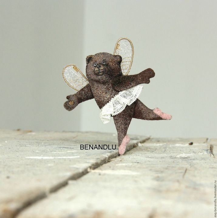 Bear ballerina wow!!! brooch - BENANDLU Art - Evgenia Alexeeva