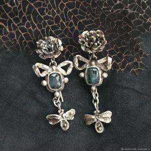 Moths earrings