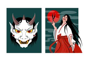 Demon Face and Demon Woman