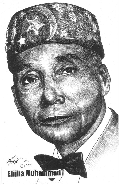 The Honorable Elijah Muhammad - Art by Mark G