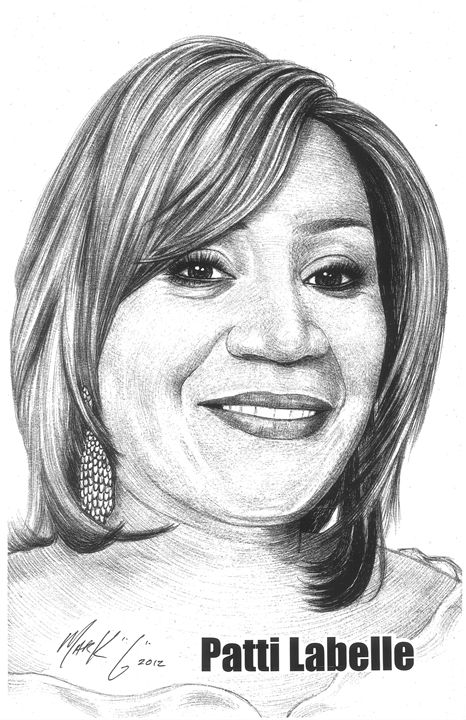 Portrait of Patti Labelle - Art by Mark G