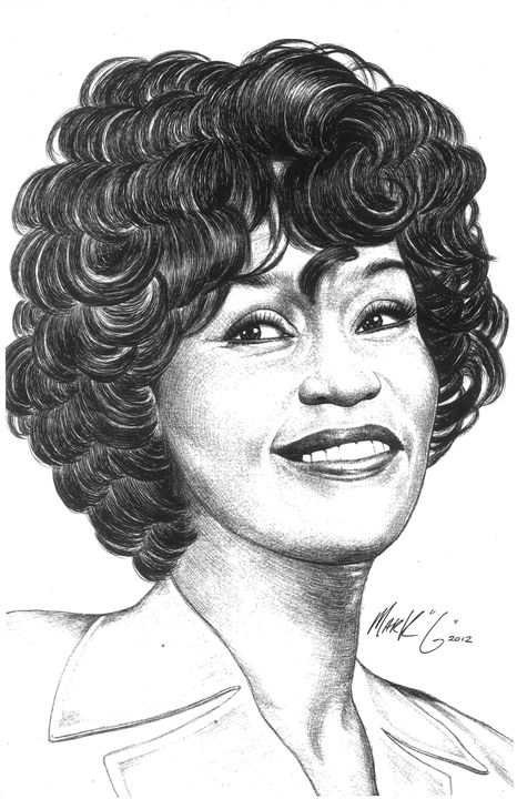 Portrait of Whitney Houston - Art by Mark G