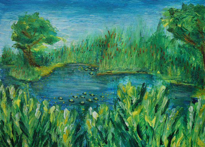 River and Reeds - Svitlana Ziuhanova