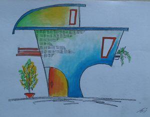 cheesy mousiiiee - Watercolour Drawing