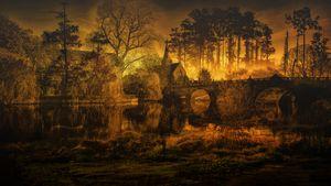 Futuristic Apocalyptic Landscape