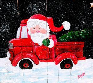 Santas red truck