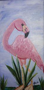 Pink Flamingo with attitude - Becki