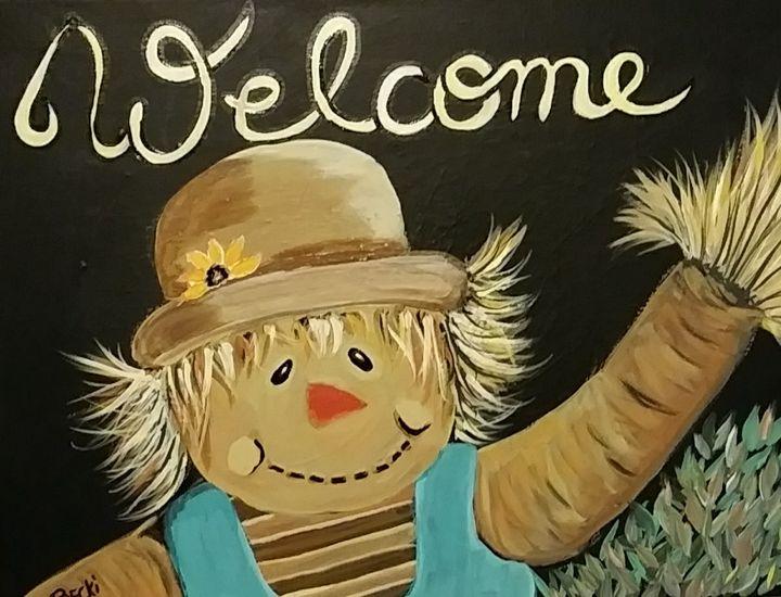 Welcome scarecrow - Becki