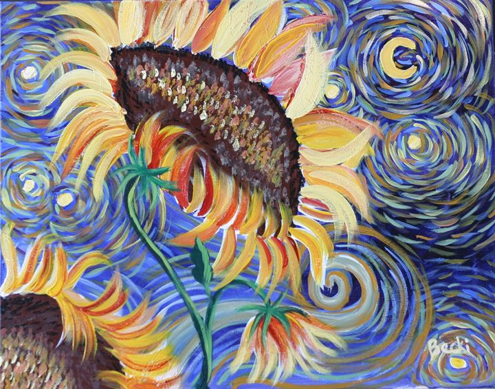 sunflowers dancing - Becki