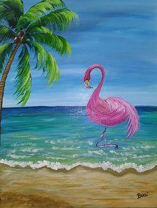 Playing flamingo