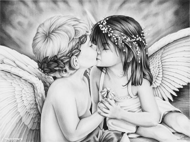 """Angels Kissing"" - Ross Coleman Studio"