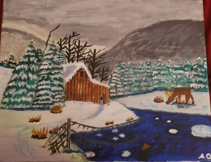 Cabin In The Snow - OReilly Arts