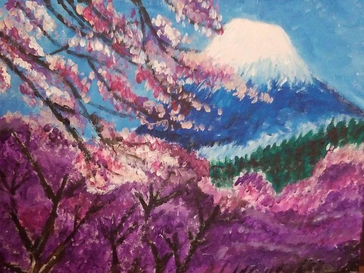 Cherry blossom Fuji - OReilly Arts