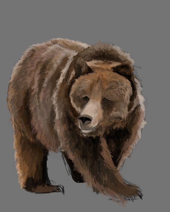 """Bear Pose"" - Art by Calli"