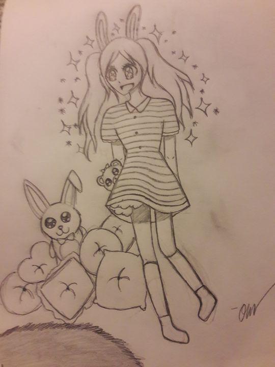 Bunny girl - Olivia's Cartoon drawings and greeting cards
