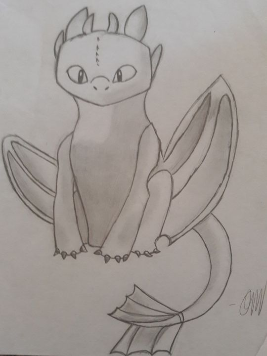 Toothless - Olivia's Cartoon drawings and greeting cards