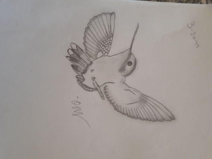 Hummingbird - Olivia's Cartoon drawings and greeting cards