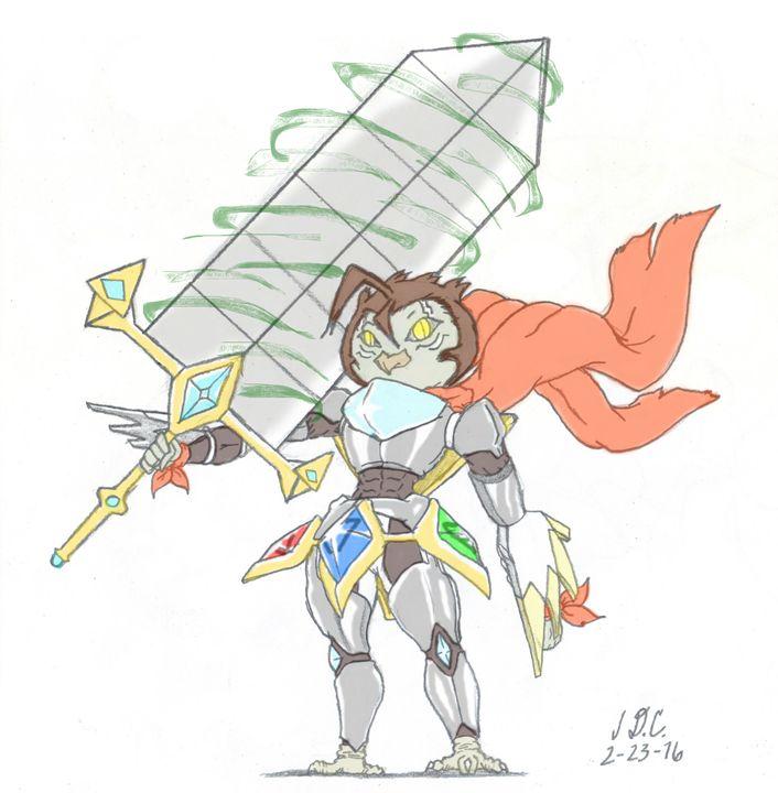 Knight Owl - J D.C. Illustrations