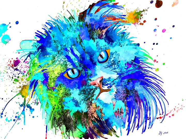 Persian Cat Colored - Daniel Janda