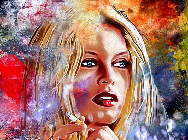 Brigitte Bardot Painted Face - Daniel Janda