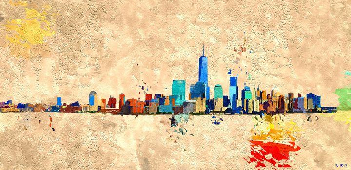 NYC Grunge Skyline - Daniel Janda
