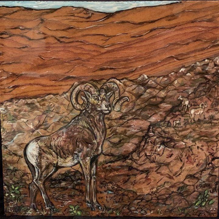 Longhorn Goat - Hale Family Art