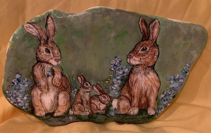 Rabbit Family - Hale Family Art