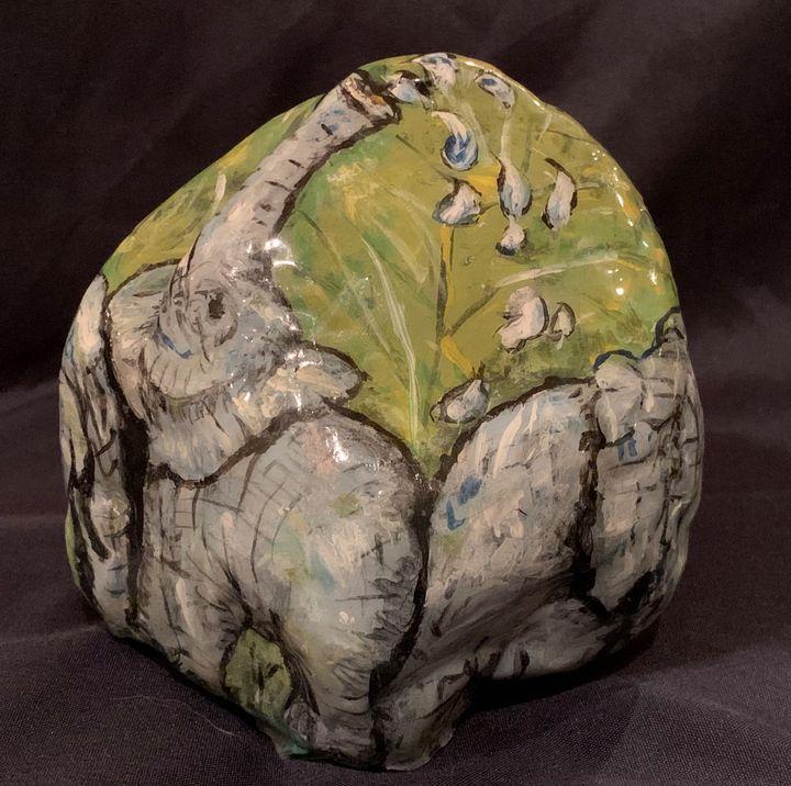 Elephant Jungle Rock - Hale Family Art