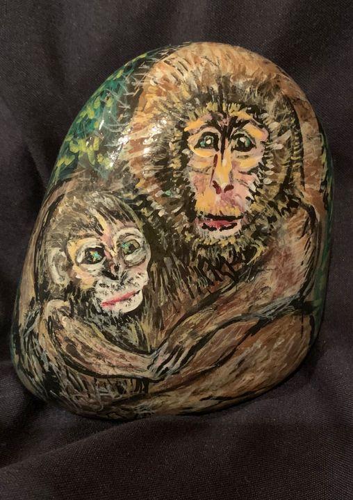 Macaque Rock - Hale Family Art