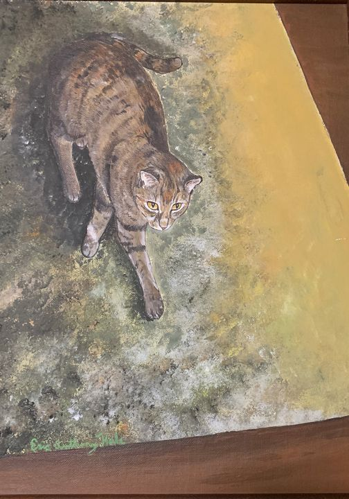 Abstract Cat Painting - Hale Family Art