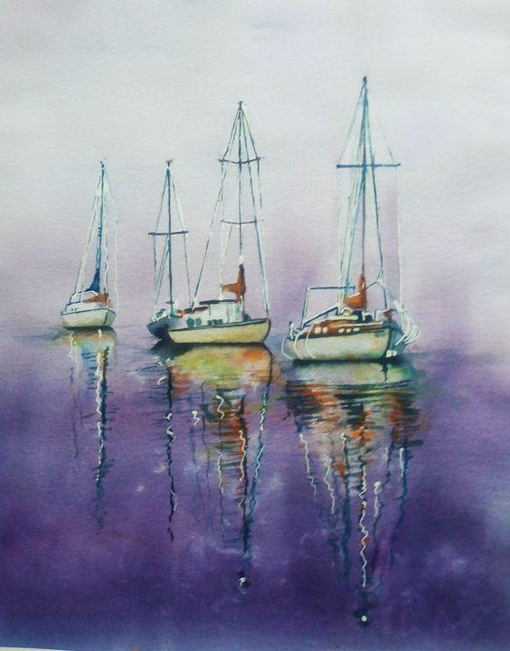 Boats at Harbor - Ka.ta.s.art