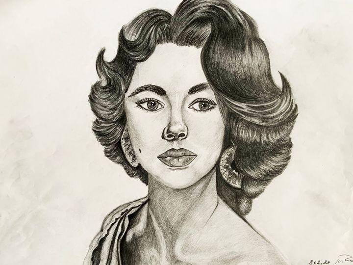 Portrait of Elizabeth Taylor - Ka.ta.s.art