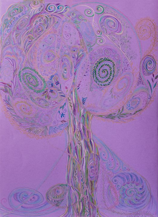 Purple Tree - Drawings of Light