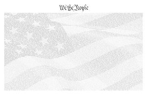 US Constitution/American Flag