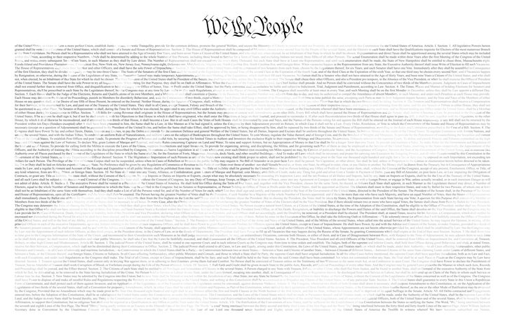 US Constitution/American Flag - Images Through words