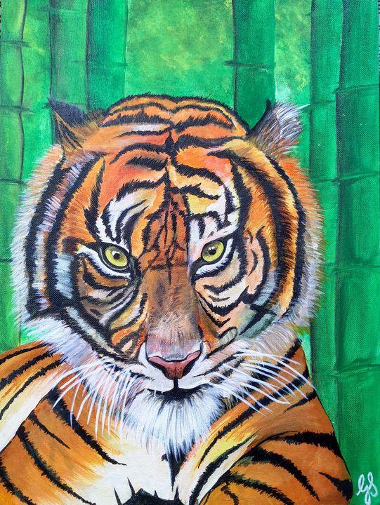 Tiger Acrylic painting - ArtistInMe
