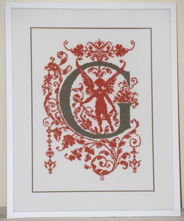 """Baroque style Alphabet"" - Anna's Cross-Stitch"