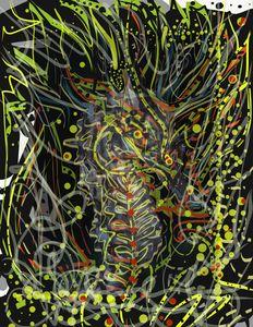 Neon Seahorse