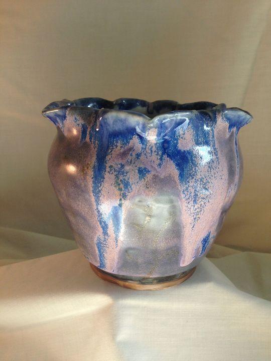 """vase """" Violet Tulip"""" 1 - Maria's Gallery"""