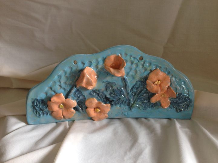 "wall sculpture ""California poppy"" - Maria's Gallery"