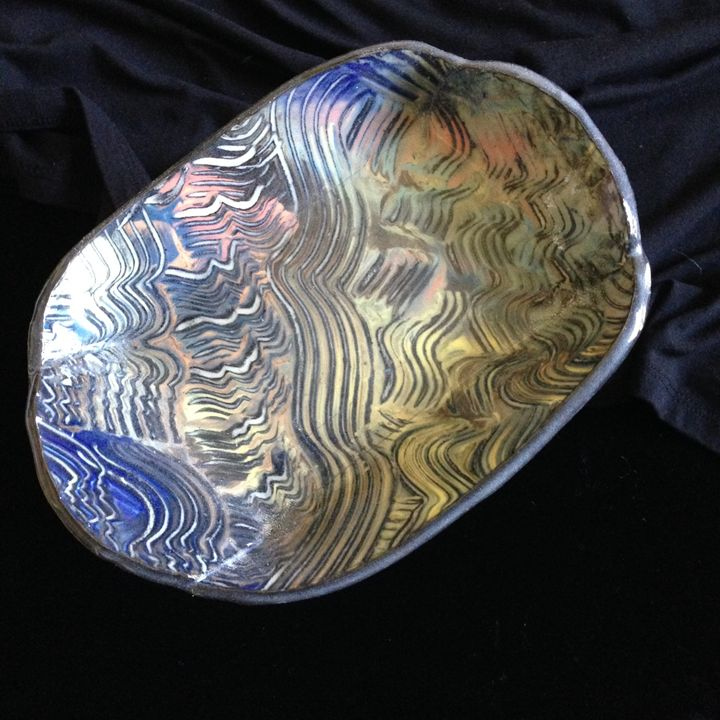 "Oval plate ""Expression#3"" - Maria's Gallery"