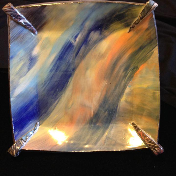 "Square Plate ""Fantasy"" - Maria's Gallery"