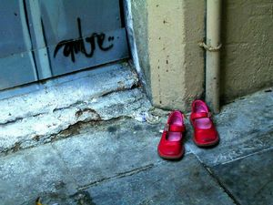 Little Dorothy's shoes.