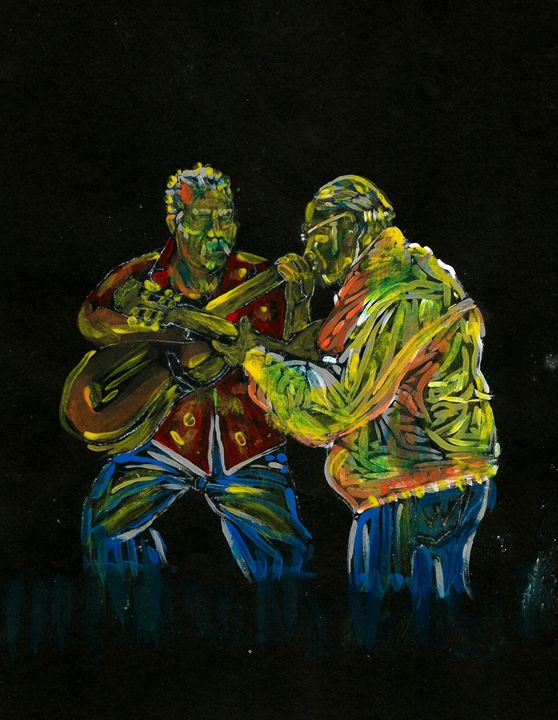 Two Classical Guitar Players Duet - Americo Salazar