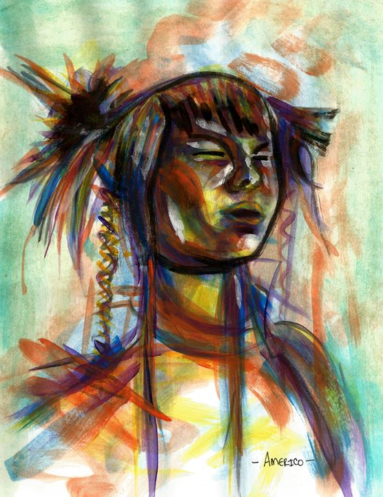 Portrait of Asian Woman - Americo Salazar