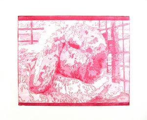 Rabbit Print (Red)