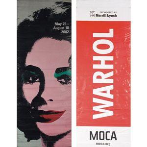 "Andy Warhol ""Liz"" banner, MOCA"