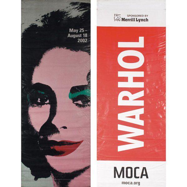 "Andy Warhol ""Liz"" banner, MOCA - yecats gallery"